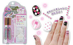 Crazy about nail art on their days off 2 hi tech kids web with nail sticker pens you can draw your very own designs on the prinsesfo Images