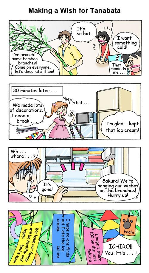 Julho: Fazendo um desejo para o Tanabata