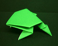 Jumping frog origami - photo#19