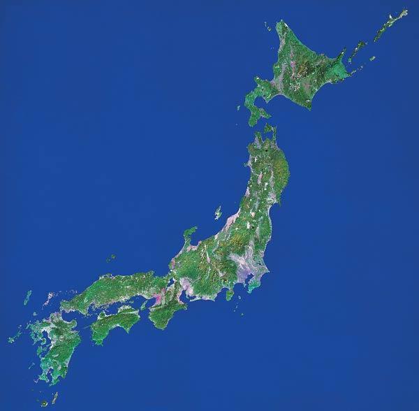 NIPPONIA - Japan map satellite
