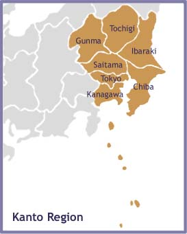 Regions Cities - Japan map regions