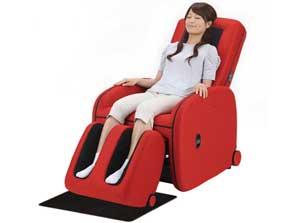 massage chair japan. a massage chair in action. (c) fujiiryoki co., ltd. japan
