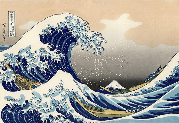 富岳三十六景:神奈川冲浪里