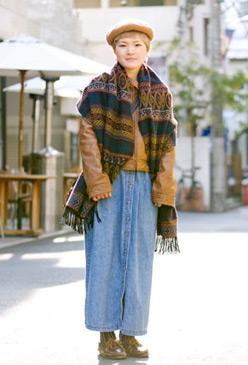 Japanese teen wearing denim
